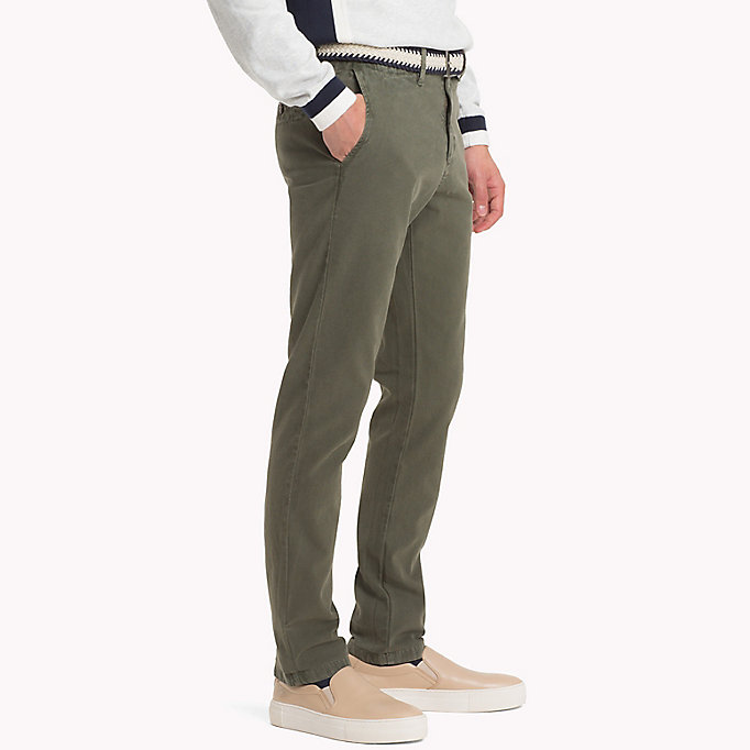 TOMMY HILFIGER Straight Fit Textured Chinos - DUSTY ROSE - TOMMY HILFIGER Men - detail image 2