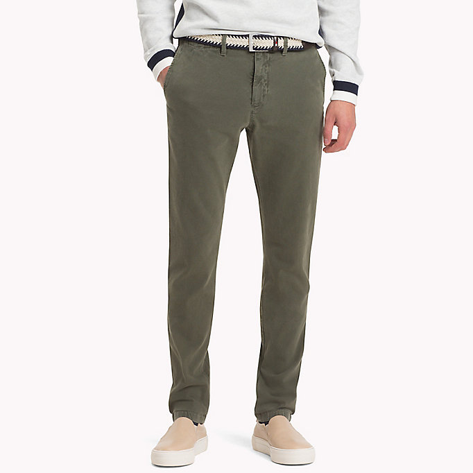 TOMMY HILFIGER Straight Fit Textured Chinos - DUSTY ROSE - TOMMY HILFIGER Men - main image