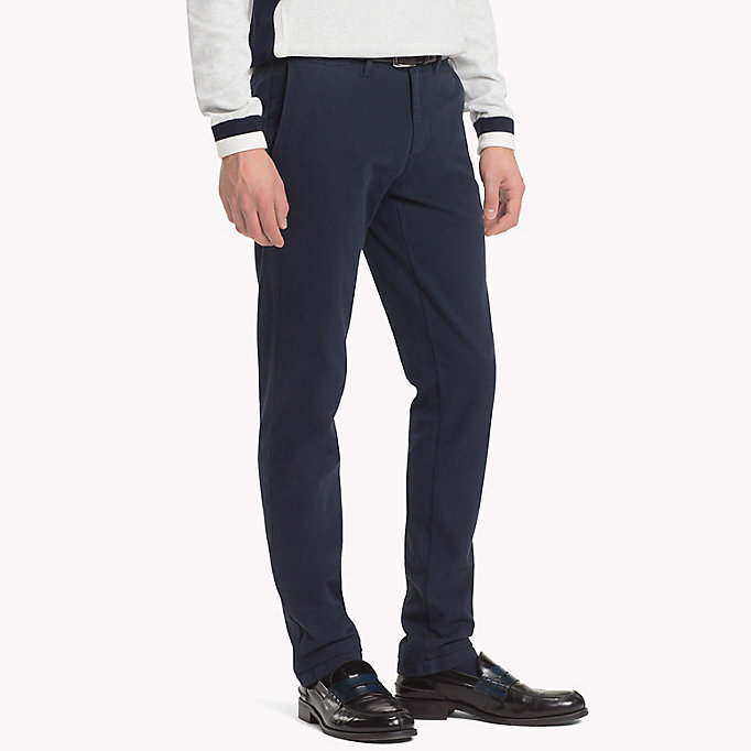 TOMMY HILFIGER Straight Fit Textured Chinos - DEEP DEPTHS - TOMMY HILFIGER Men - detail image 2