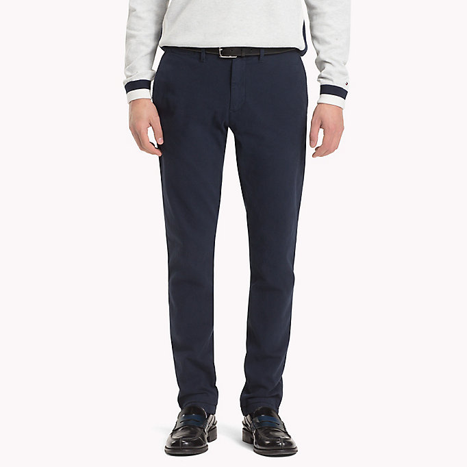 TOMMY HILFIGER Straight Fit Textured Chinos - DEEP DEPTHS - TOMMY HILFIGER Men - main image