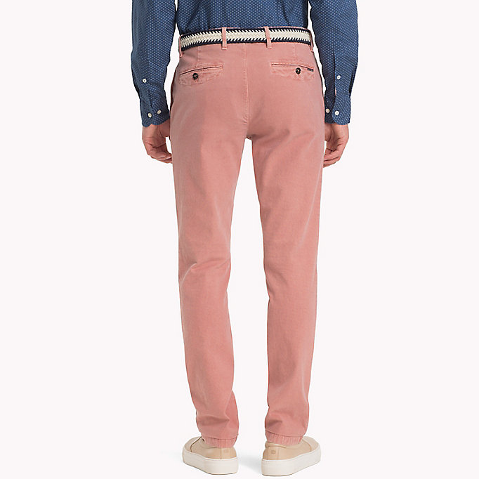 TOMMY HILFIGER Straight Fit Textured Chinos - ELMWOOD - TOMMY HILFIGER Men - detail image 1