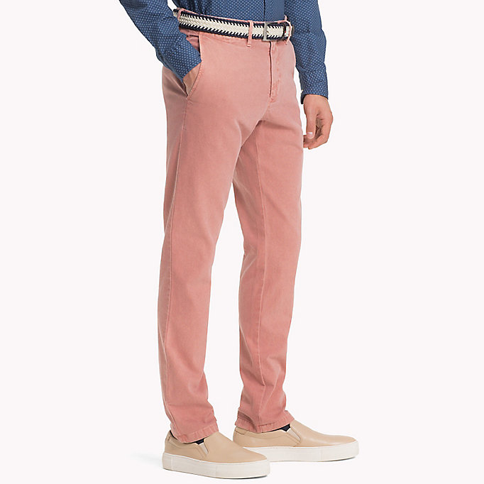 TOMMY HILFIGER Straight Fit Textured Chinos - ELMWOOD - TOMMY HILFIGER Men - detail image 2