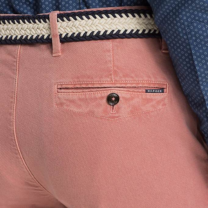 TOMMY HILFIGER Straight Fit Textured Chinos - ELMWOOD - TOMMY HILFIGER Men - detail image 3