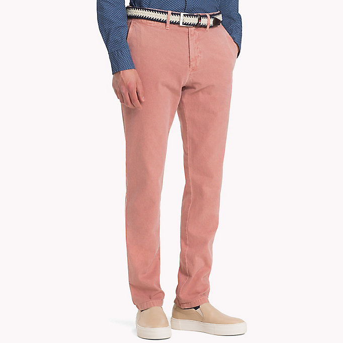 TOMMY HILFIGER Straight Fit Textured Chinos - ELMWOOD - TOMMY HILFIGER Men - main image