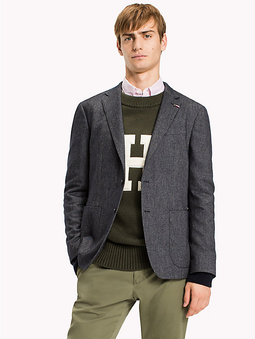 TOMMY HILFIGER Slim Fit Blazer - DARK DENIM - TOMMY HILFIGER Blazers - main image