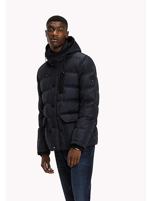 TOMMY HILFIGER Hooded Down Bomber - SKY CAPTAIN - TOMMY HILFIGER Big & Tall - main image