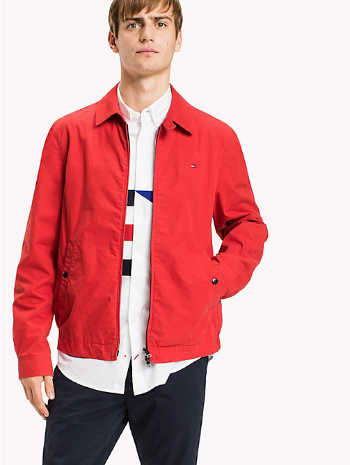 TOMMY HILFIGER Classic Cotton Jacket - BARBADOS CHERRY - TOMMY HILFIGER Clothing - main image