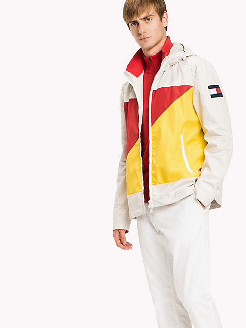 TOMMY HILFIGER Cotton Sailing Jacket - OYSTER GRAY - TOMMY HILFIGER Coats & Jackets - main image