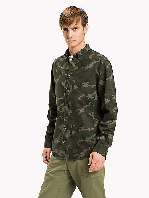 TOMMY HILFIGER Regular Fit Camouflage Shirt - FOUR LEAF CLOVER / MULTI - TOMMY HILFIGER Shirts - detail image 1