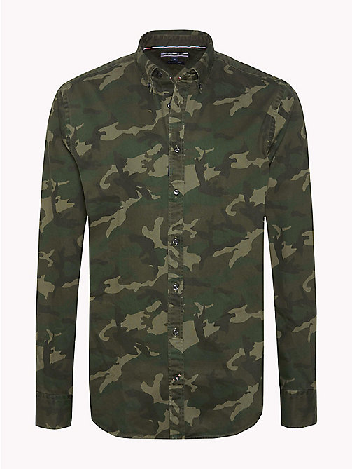 TOMMY HILFIGER Regular Fit Camouflage Shirt - FOUR LEAF CLOVER / MULTI - TOMMY HILFIGER Shirts - main image