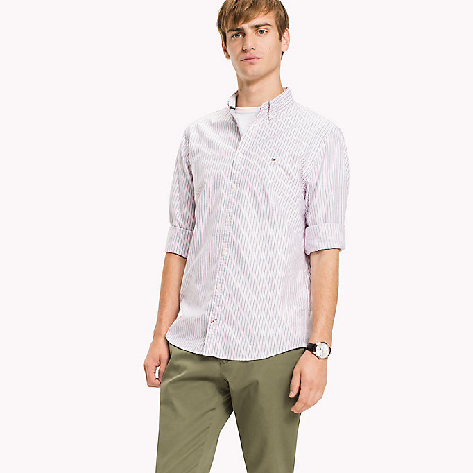 TOMMY HILFIGER Ithaca Stripe Regular Fit Shirt - VERDANT GREEN / MARITIME BLUE - TOMMY HILFIGER Clothing - detail image 1