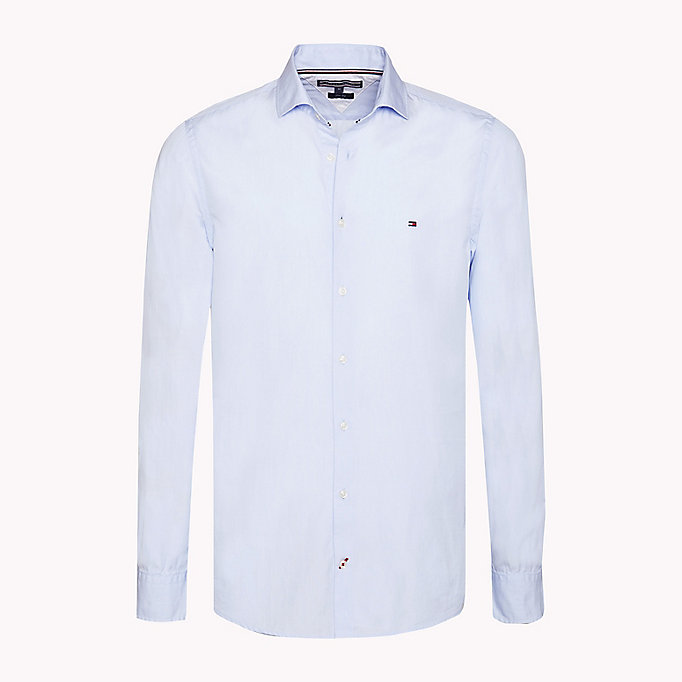 TOMMY HILFIGER Slim Fit Shirt - BLUE PRINT - TOMMY HILFIGER Men - main image