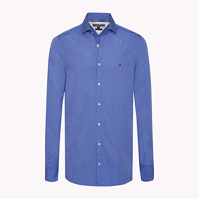 TOMMY HILFIGER Slim Fit Shirt - LIGHT SHIRT BLUE - TOMMY HILFIGER Clothing - main image