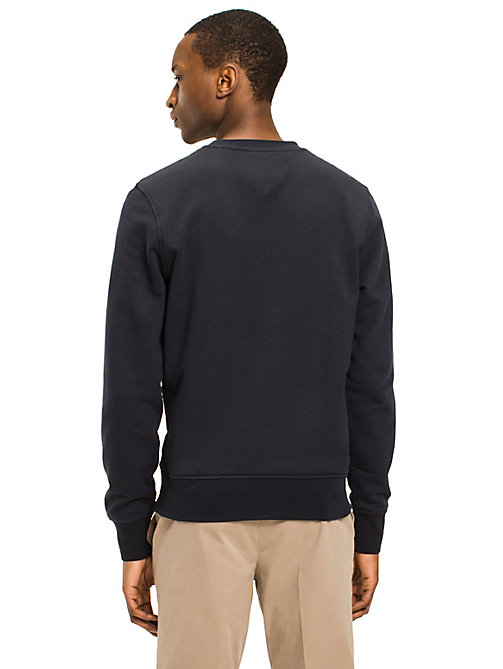 TOMMY HILFIGER Crew Neck Cotton Sweatshirt - SKY CAPTAIN - TOMMY HILFIGER Sweatshirts - detail image 1