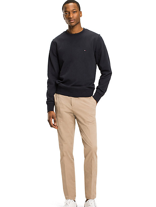 TOMMY HILFIGER Crew Neck Cotton Sweatshirt - SKY CAPTAIN - TOMMY HILFIGER Basics - main image