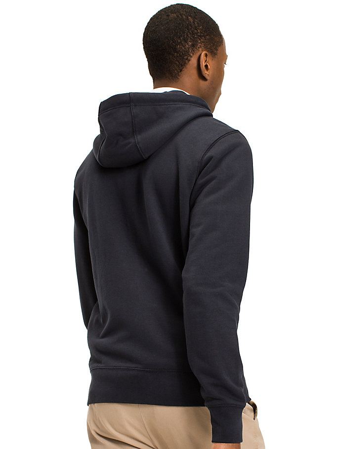 TOMMY HILFIGER Signature Tape Zip-Thru Hoodie - CLOUD HTR - TOMMY HILFIGER Men - detail image 1