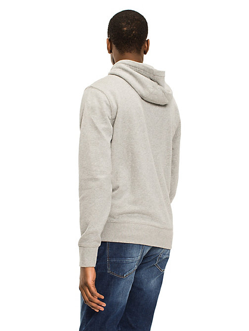 TOMMY HILFIGER Signature Tape Zip-Thru Hoodie - CLOUD HTR - TOMMY HILFIGER Basics - detail image 1