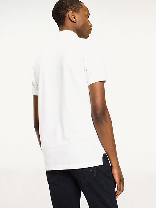 TOMMY HILFIGER Slim Fit Polo - BRIGHT WHITE - TOMMY HILFIGER Basics - detail image 1