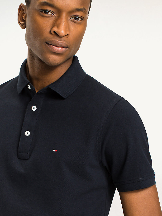 TOMMY HILFIGER Classic Slim Fit Polo Shirt - FLAG BLACK - TOMMY HILFIGER Clothing - detail image 2