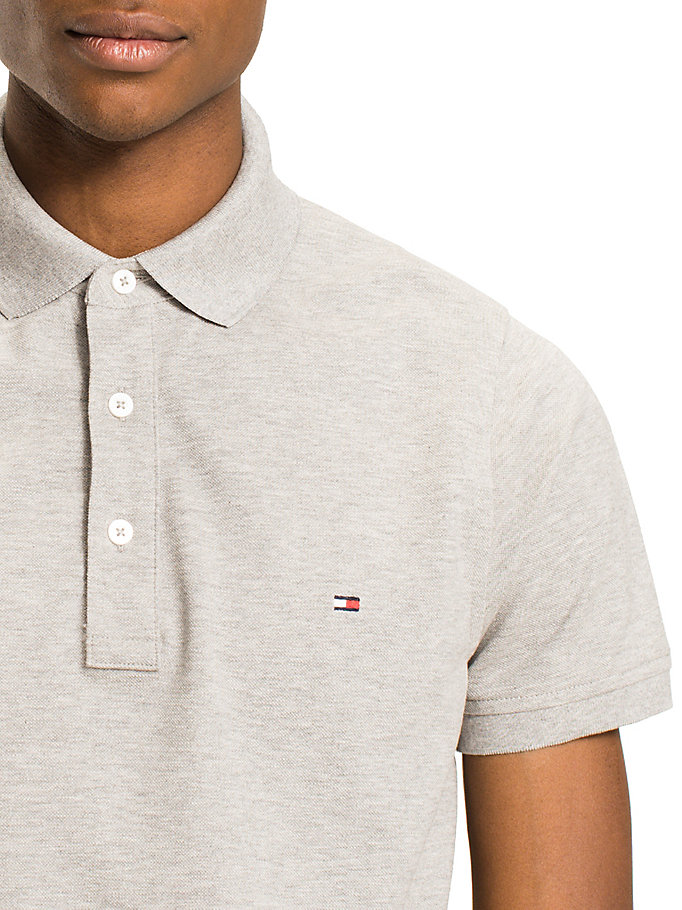 TOMMY HILFIGER Classic Slim Fit Polo Shirt - BRIGHT WHITE - TOMMY HILFIGER Clothing - detail image 2