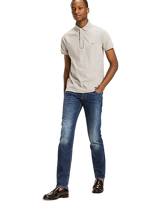 TOMMY HILFIGER Slim Fit Polo - CLOUD HTR - TOMMY HILFIGER Basics - main image