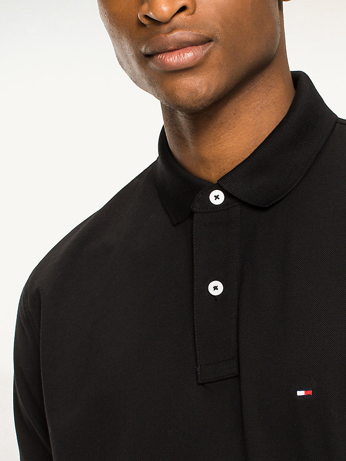 TOMMY HILFIGER Regular Fit Cotton Polo Shirt - CLOUD HTR - TOMMY HILFIGER Men - detail image 2