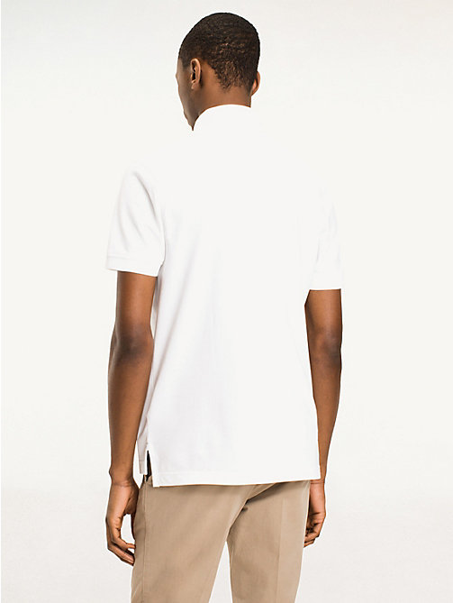 TOMMY HILFIGER Regular Fit Cotton Polo Shirt - BRIGHT WHITE - TOMMY HILFIGER Basics - detail image 1