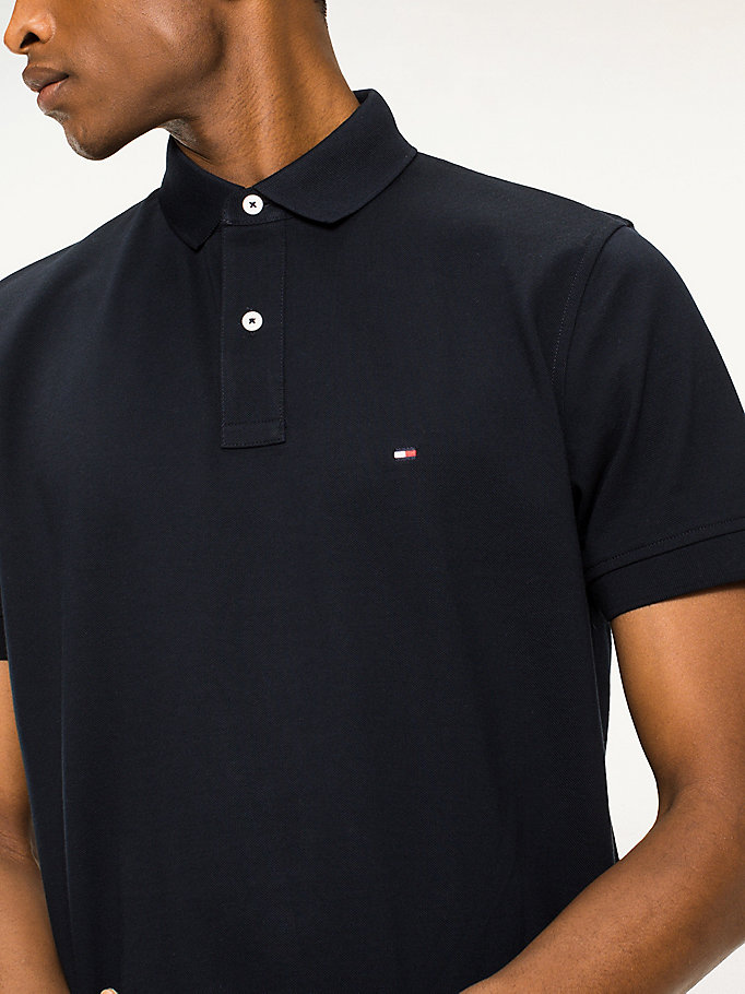 TOMMY HILFIGER Regular Fit Baumwoll-Poloshirt - FLAG BLACK - TOMMY HILFIGER Herren - main image 2