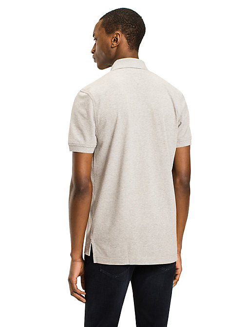 TOMMY HILFIGER Tommy Slim Fit Polo - CLOUD HTR - TOMMY HILFIGER Basics - detail image 1