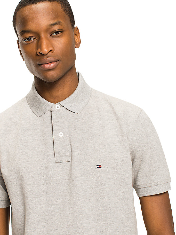 TOMMY HILFIGER Regular Fit Baumwoll-Poloshirt - BRIGHT WHITE - TOMMY HILFIGER Herren - main image 2