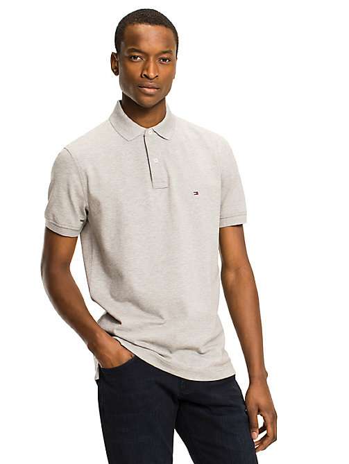 TOMMY HILFIGER Regular Fit Cotton Polo Shirt - CLOUD HTR - TOMMY HILFIGER Basics - main image