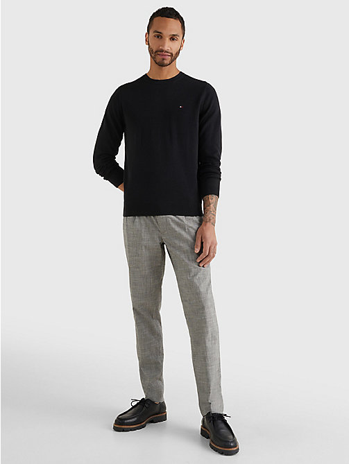 TOMMY HILFIGER Regular Fit Crew Neck Jumper - FLAG BLACK - TOMMY HILFIGER Basics - detail image 1