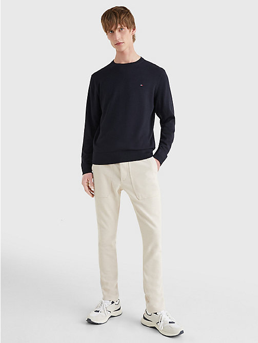 TOMMY HILFIGER Regular Fit Crew Neck Jumper - SKY CAPTAIN - TOMMY HILFIGER Basics - detail image 1