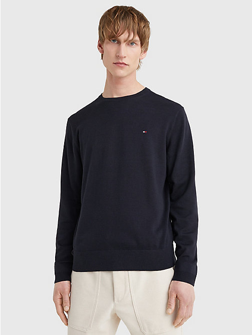 TOMMY HILFIGER Regular Fit Crew Neck Jumper - SKY CAPTAIN - TOMMY HILFIGER Basics - main image