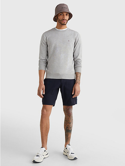 TOMMY HILFIGER Regular Fit Crew Neck Jumper - CLOUD HTR - TOMMY HILFIGER Jumpers - detail image 1