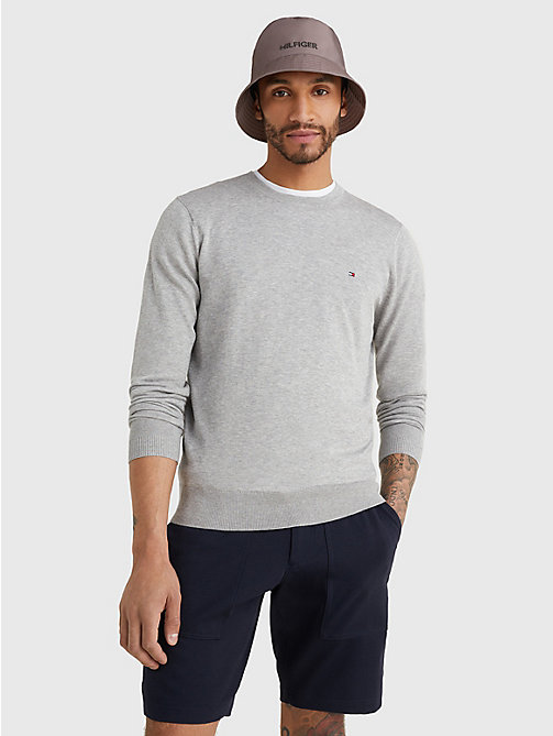 TOMMY HILFIGER Regular Fit Crew Neck Jumper - CLOUD HTR - TOMMY HILFIGER Jumpers - main image