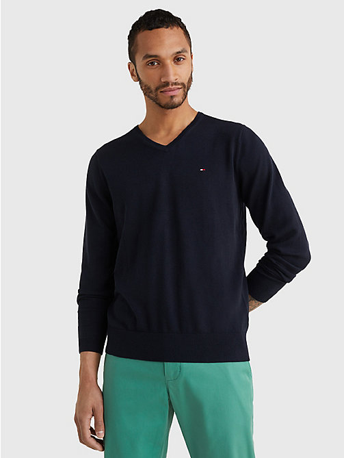 TOMMY HILFIGER Luxury Silk Blend Jumper - SKY CAPTAIN - TOMMY HILFIGER Джемперы - главное изображение