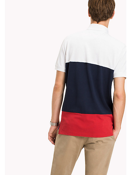 TOMMY HILFIGER Colourblocked Polo - BRIGHT WHITE / MULTI - TOMMY HILFIGER Polo Shirts - detail image 1