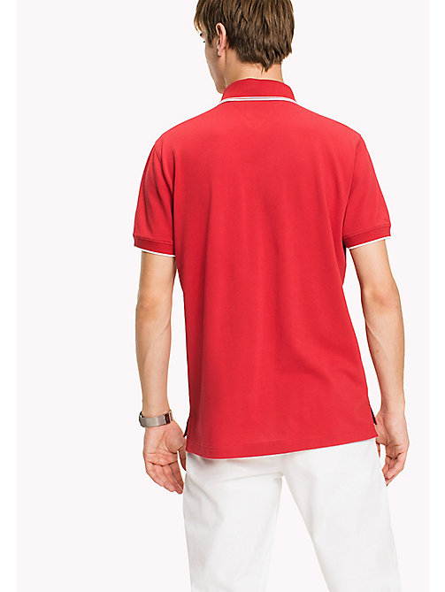 TOMMY HILFIGER Regular Fit Tipped Polo - BARBADOS CHERRY - TOMMY HILFIGER Father's day - detail image 1