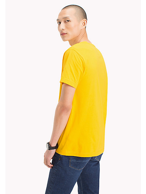 TOMMY HILFIGER Logo Print Regular Fit T-Shirt - LEMON - TOMMY HILFIGER Men - detail image 1
