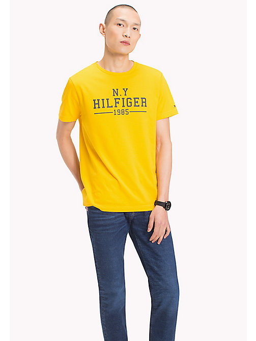 TOMMY HILFIGER Logo Print Regular Fit T-Shirt - LEMON - TOMMY HILFIGER Men - main image