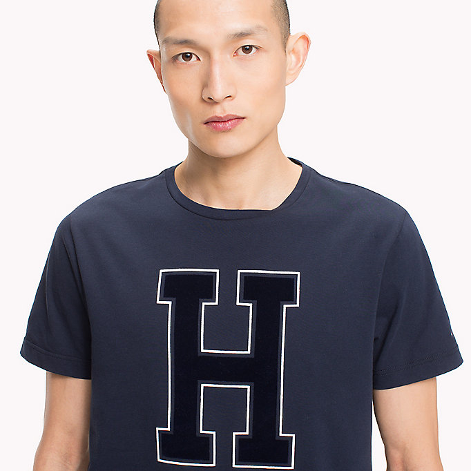 TOMMY HILFIGER Logo Print Regular Fit T-Shirt - BARBADOS CHERRY - TOMMY HILFIGER Men - detail image 2