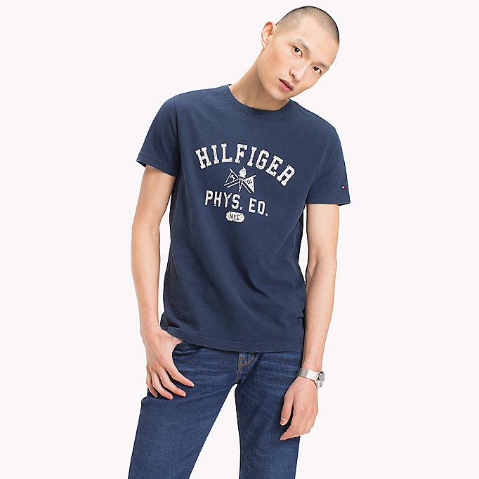 TOMMY HILFIGER Regular Fit Logo-T-Shirt - BARBADOS CHERRY - TOMMY HILFIGER Herren - main image
