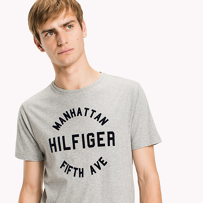 TOMMY HILFIGER Regular Fit Logo-T-Shirt - JOLLY GREEN HEATHER - TOMMY HILFIGER Herren - main image 2