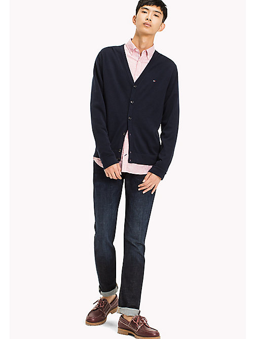 TOMMY HILFIGER V-Neck Regular Fit Cardigan - NAVY BLAZER - TOMMY HILFIGER Clothing - main image