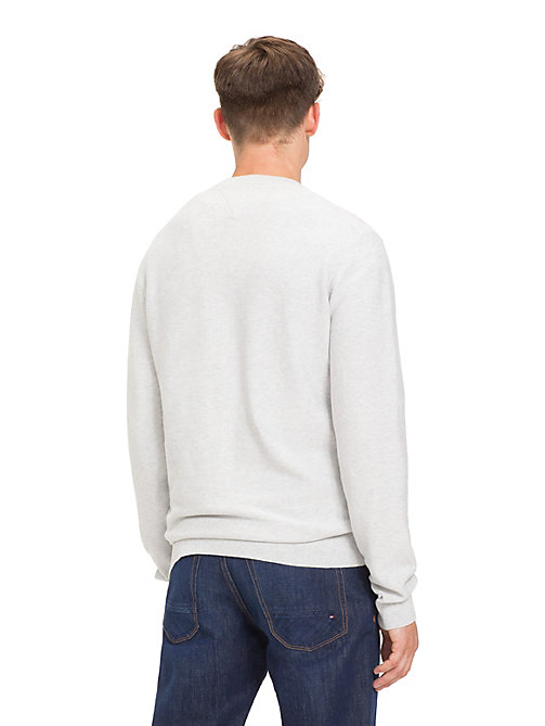 TOMMY HILFIGER Crew Neck Cotton  Jumper - GRAY VIOLET HEATHER - TOMMY HILFIGER Pulls - image détaillée 1