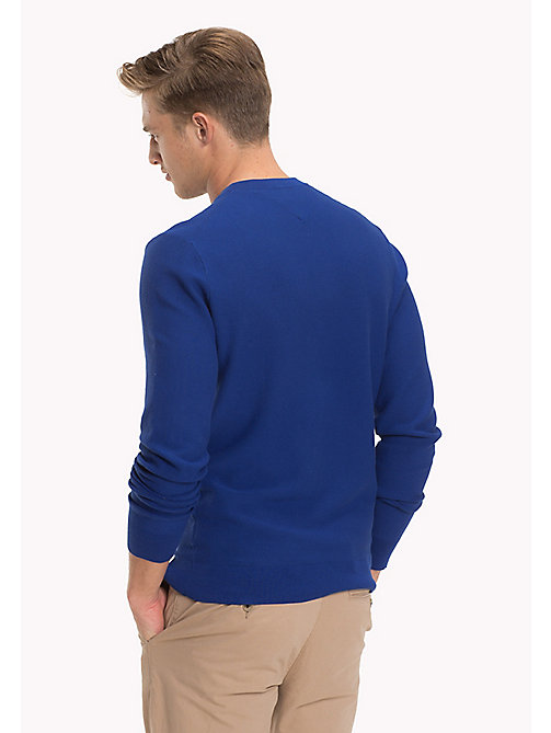 TOMMY HILFIGER Crew Neck Cotton  Jumper - SODALITE BLUE - TOMMY HILFIGER NEW IN - detail image 1