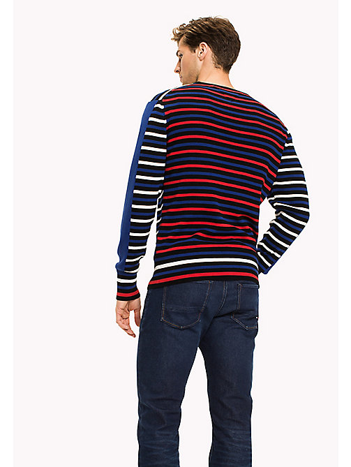 TOMMY HILFIGER Contrasting Stripe Regular Fit Jumper - JET BLACK - TOMMY HILFIGER Jumpers - detail image 1