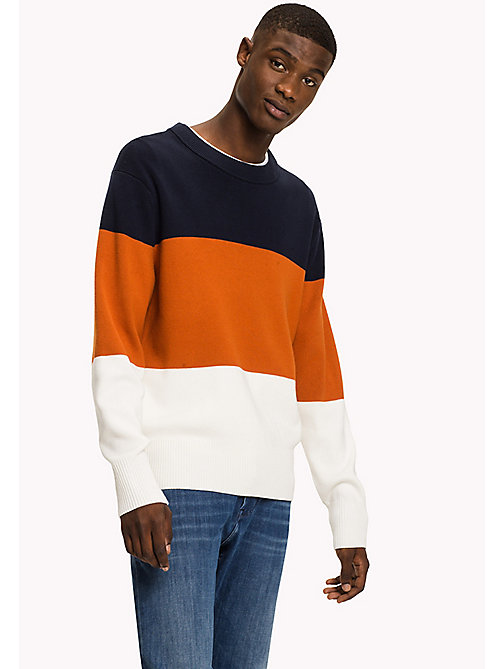 Tommy Hilfiger Pull tricoté colour-block