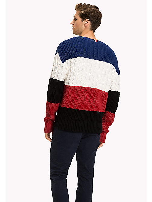 TOMMY HILFIGER Colour-Blocked Knitted Jumper - SODALITE BLUE - TOMMY HILFIGER Jumpers - detail image 1